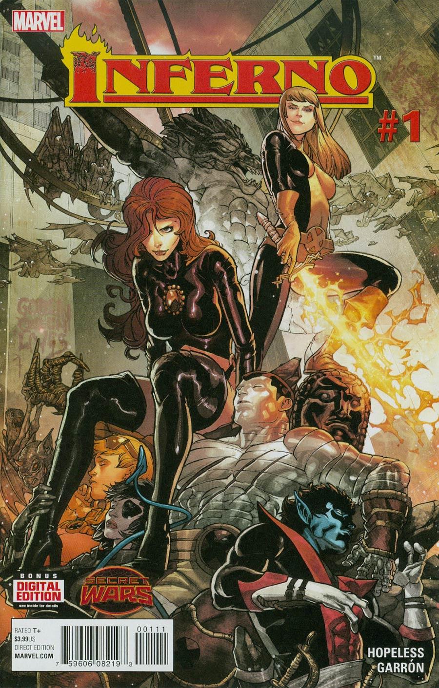 Inferno #1 Cover A Regular Javier Garron Cover (Secret Wars Warzones Tie-In)