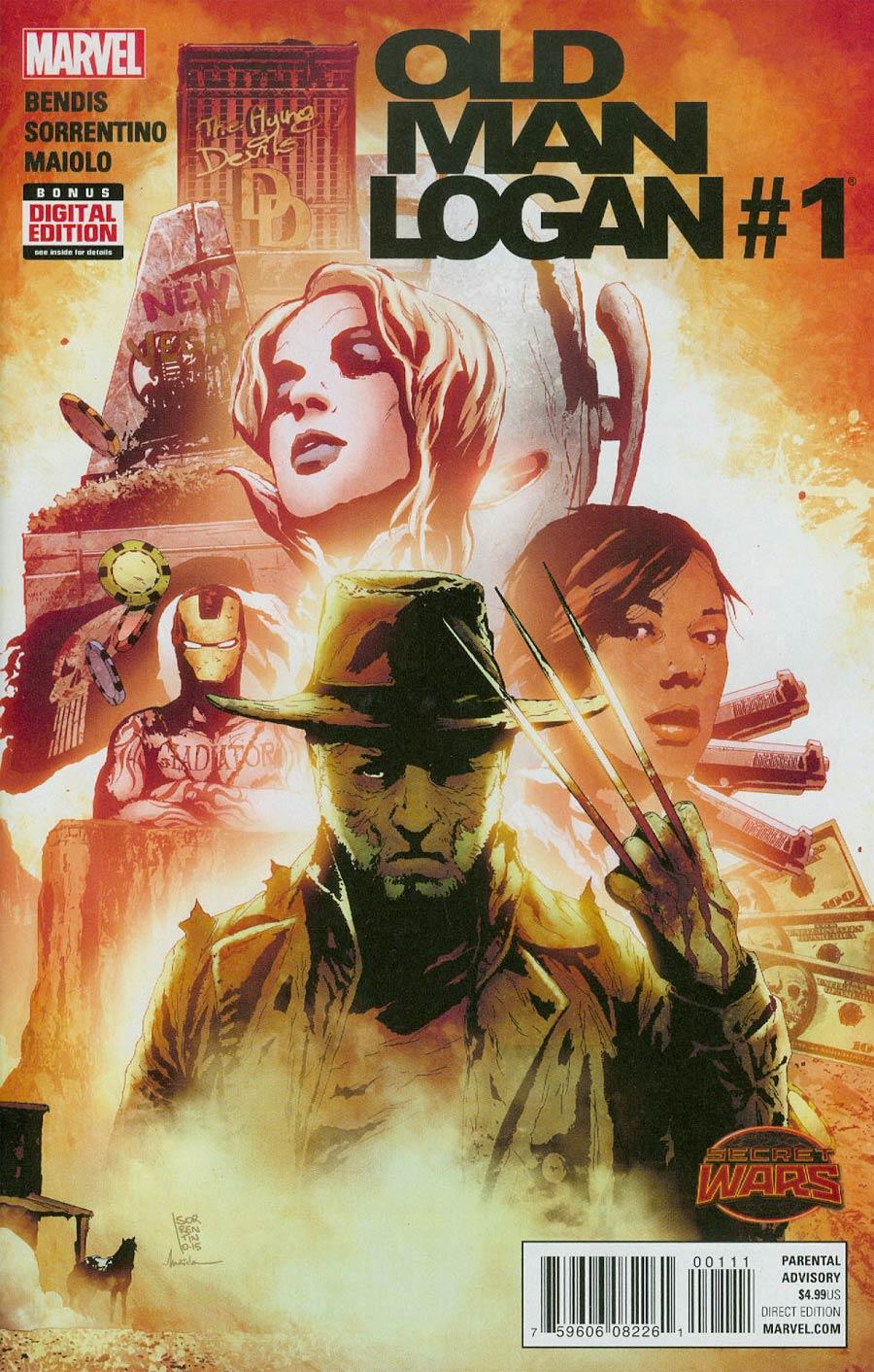 Old Man Logan #1 Cover A 1st Ptg Regular Andrea Sorrentino Cover (Secret Wars Warzones Tie-In)