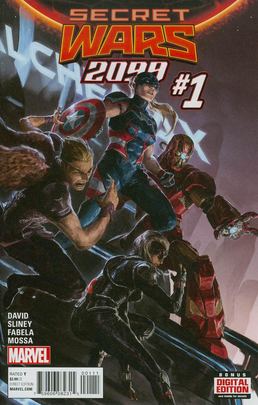 Secret Wars 2099 #1 Cover A Regular Dave Rapoza Cover (Secret Wars Warzones Tie-In)