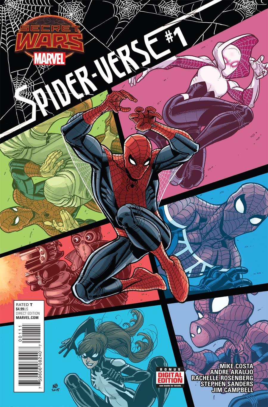 Spider-Verse Vol 2 #1 Cover A Regular Nick Bradshaw Cover (Secret Wars Warzones Tie-In)