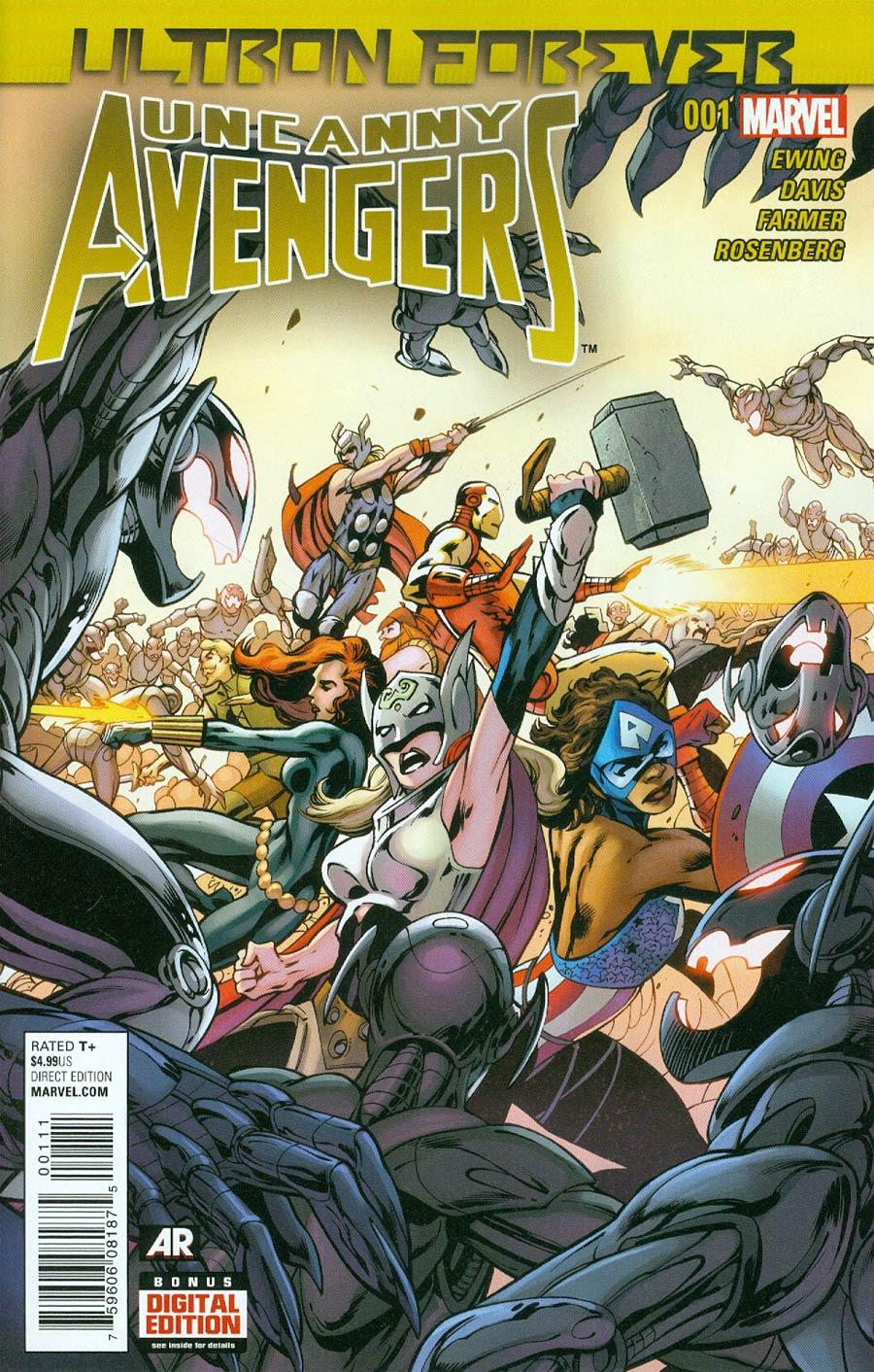 Uncanny Avengers Ultron Forever #1 Cover A Regular Alan Davis Cover (Ultron Forever Part 3)