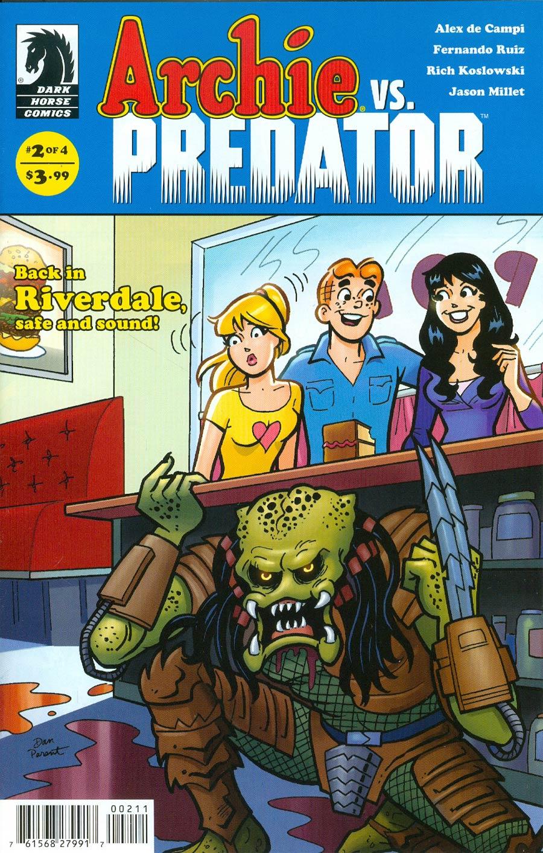 Archie vs Predator #2 Cover A Regular Dan Parent Cover