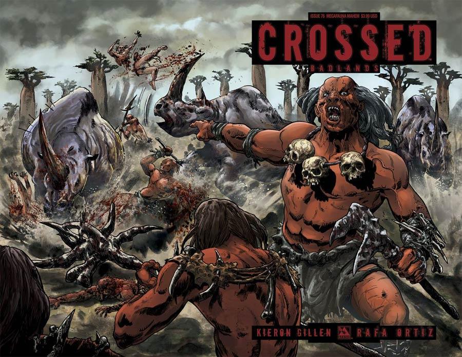 Crossed Badlands #76 Cover E Megafauna Mayhem Cover