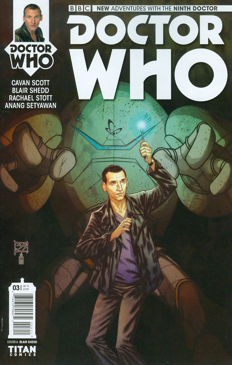 Doctor Who 9th Doctor #3 Cover A Regular Blair Shedd Cover