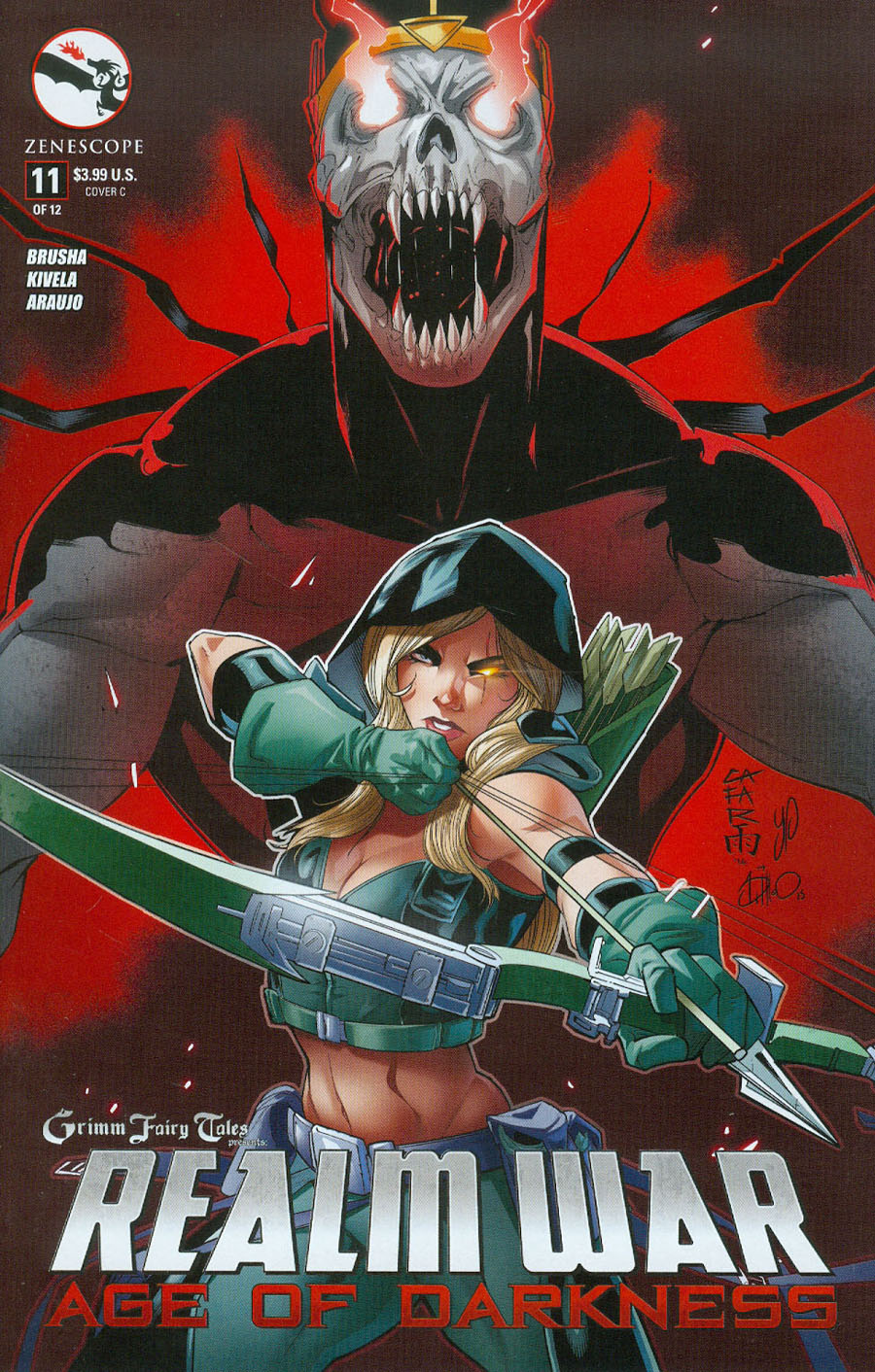 Grimm Fairy Tales Presents Realm War #11 Cover C Giuseppe Cafaro (Age Of Darkness Tie-In)
