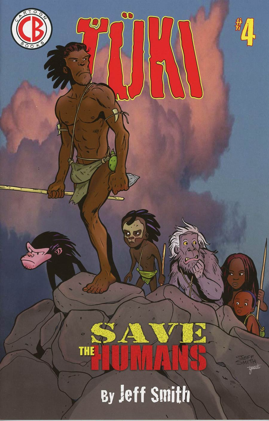 Tuki Save The Humans #4 Cover A Regular Jeff Smith Cover