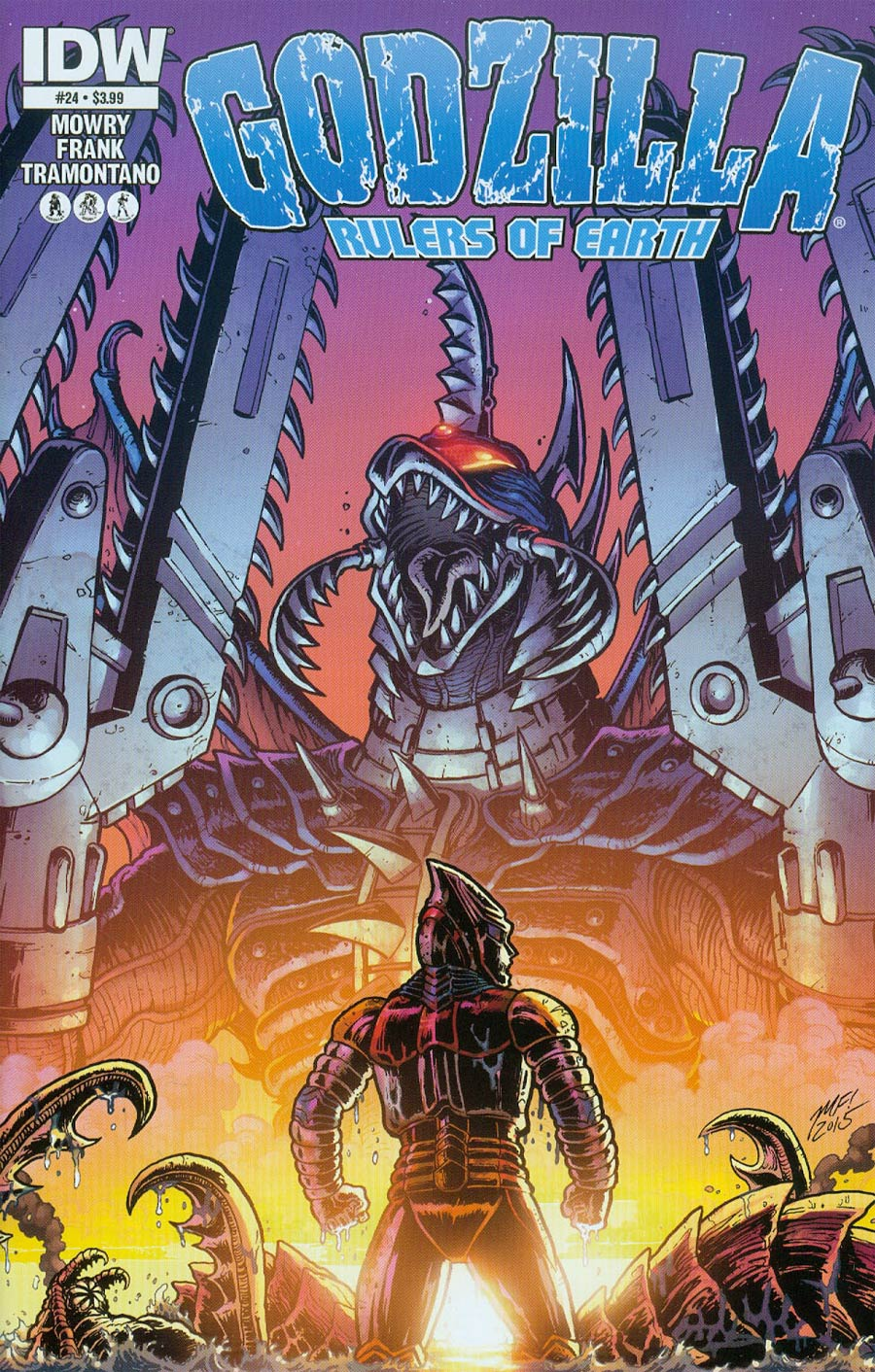 Godzilla Rulers Of The Earth #24 Cover A Regular Matt Frank Cover