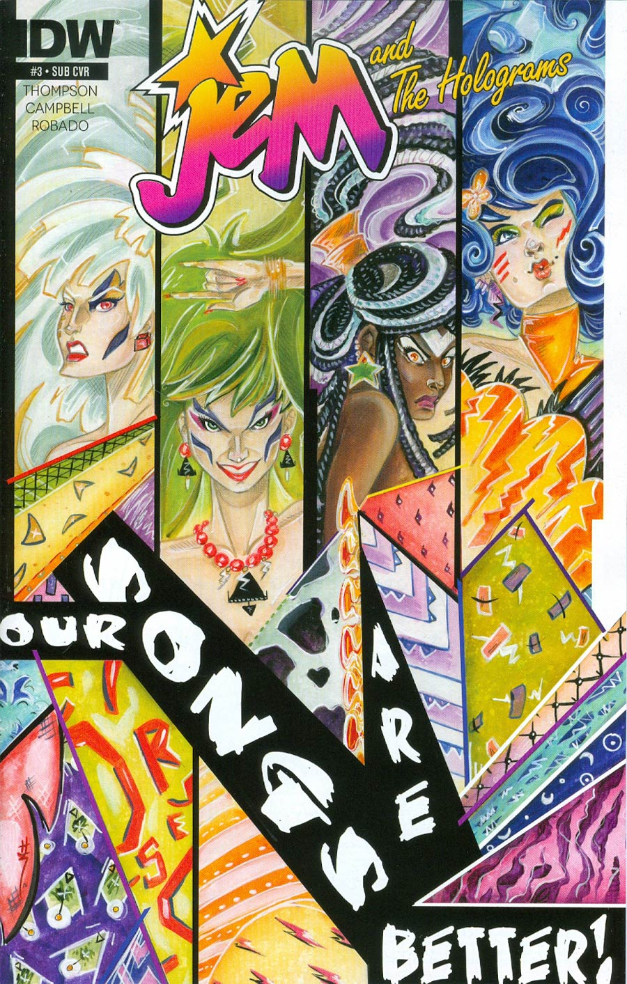 Jem And The Holograms #3 Cover B Variant Sarah Richards Subscription Cover