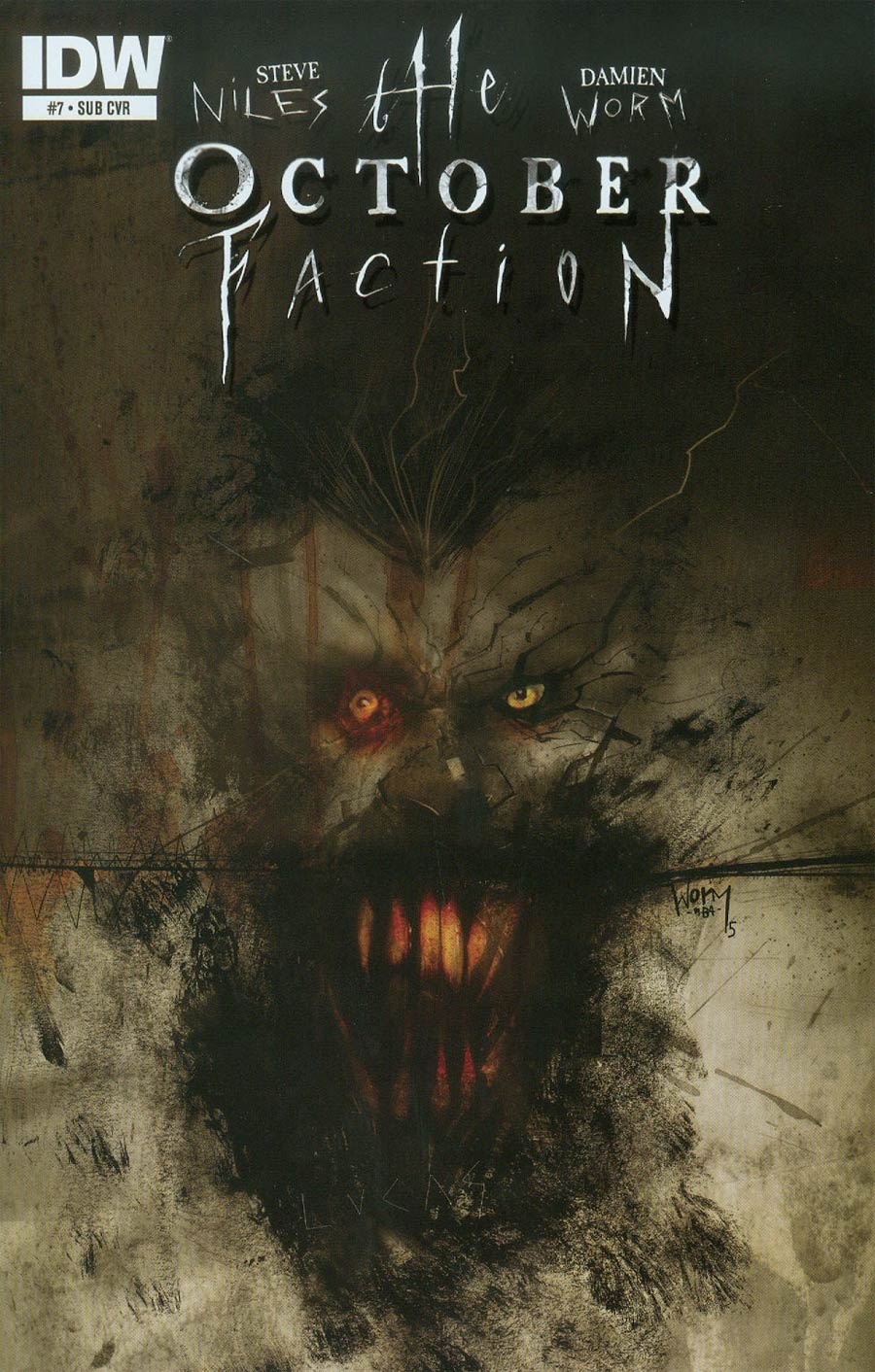October Faction #7 Cover B Variant Damien Worm Subscription Cover