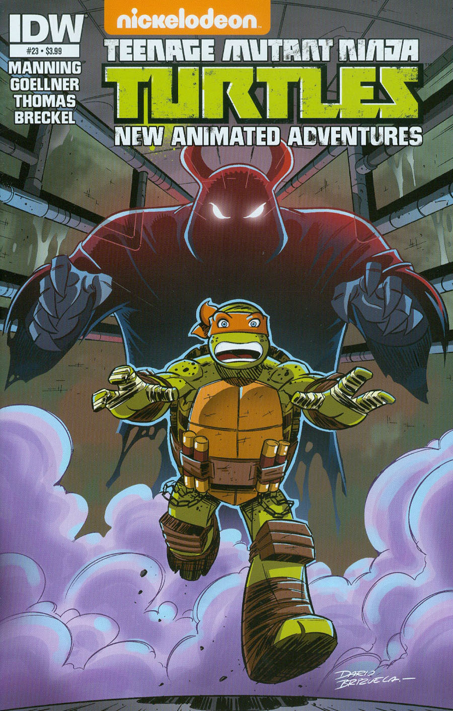 Teenage Mutant Ninja Turtles New Animated Adventures #23 Cover A Regular Dario Brizuela Cover