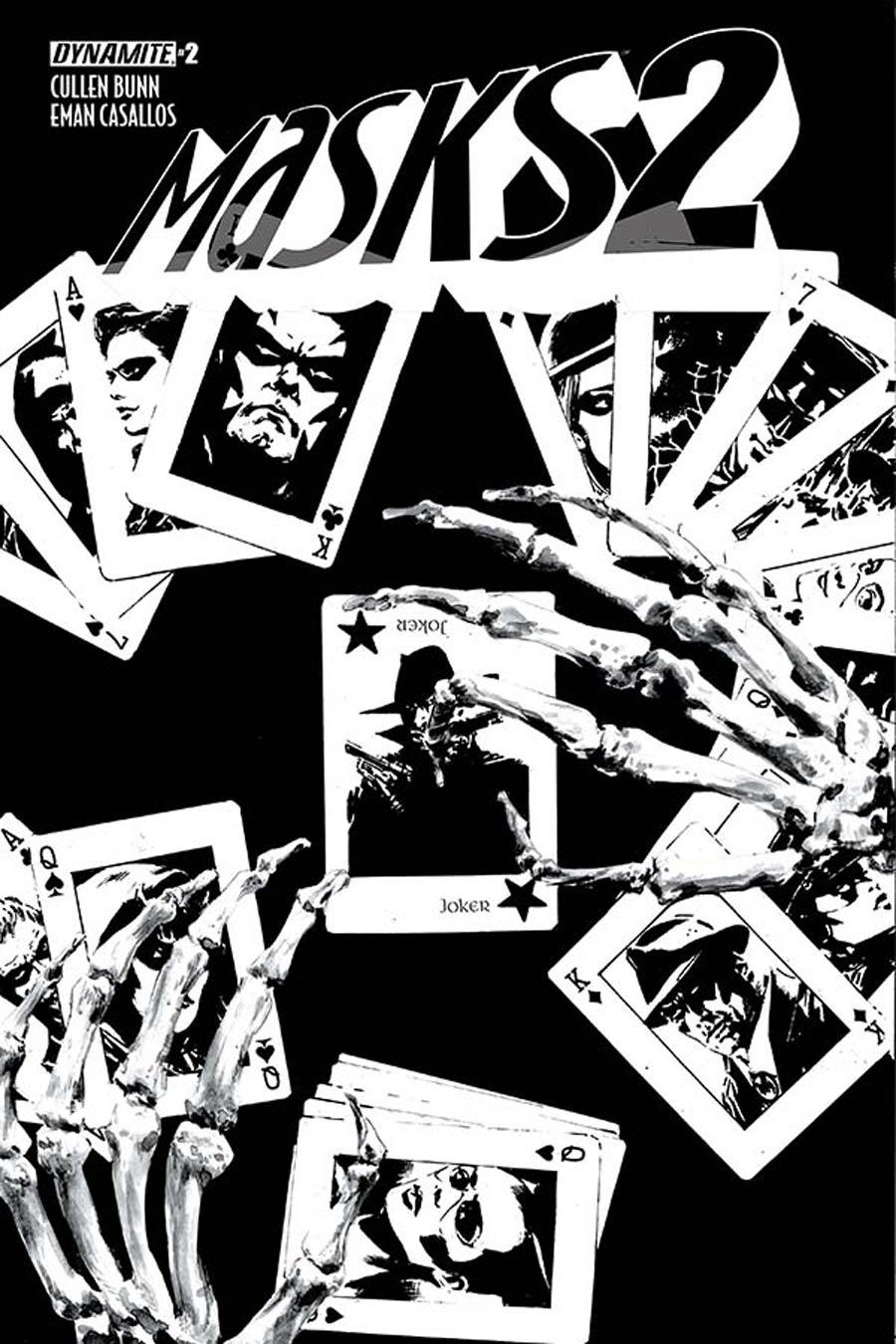 Masks 2 #2 Cover E Incentive Butch Guice Black & White Cover