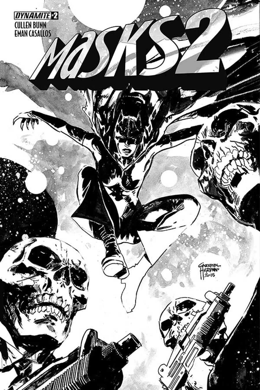 Masks 2 #2 Cover G Incentive Gabriel Hardman Black & White Cover