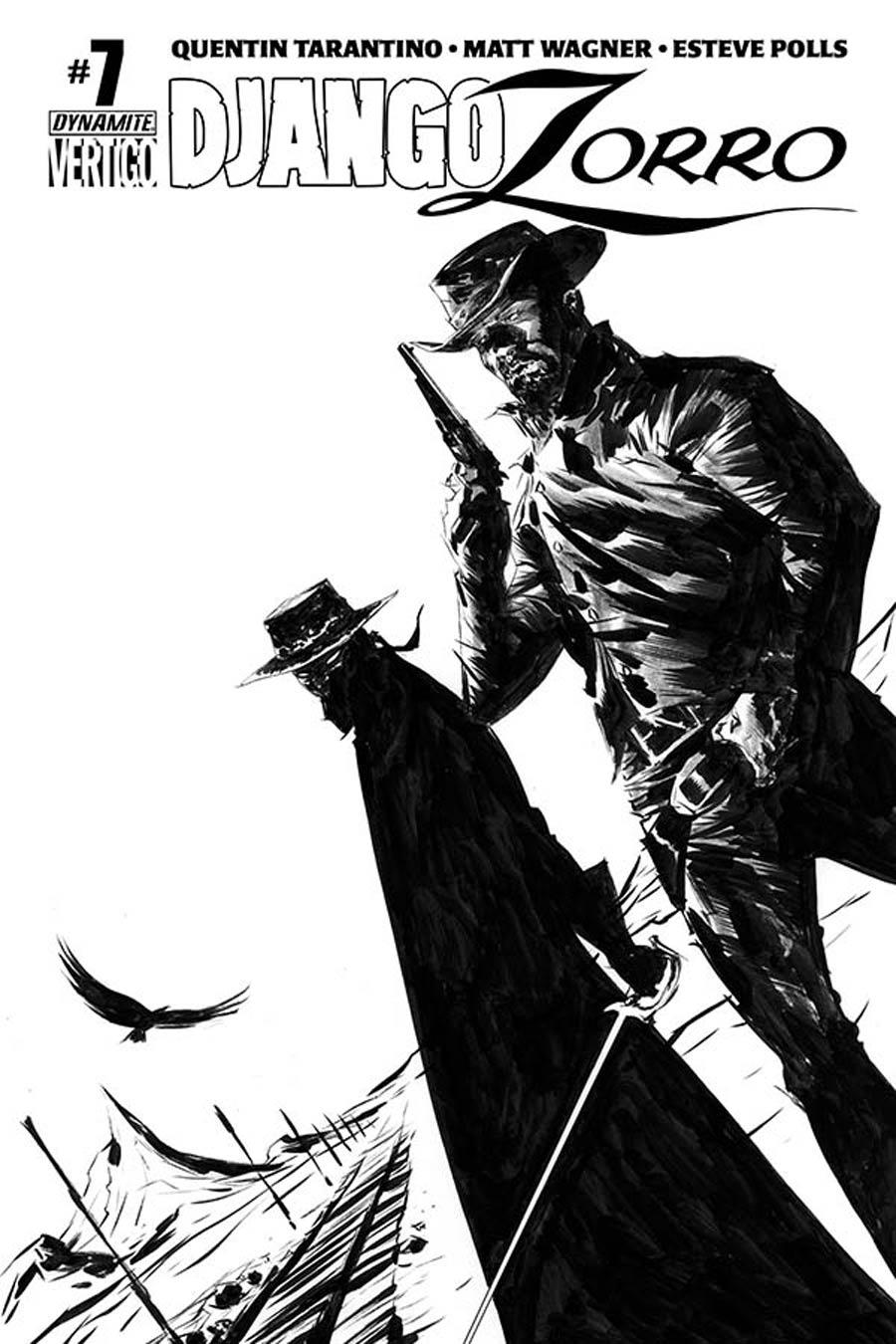 Django Zorro #7 Cover F Incentive Jae Lee Black & White Cover