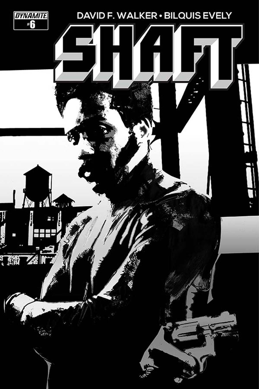 Shaft #6 Cover D Incentive Bill Sienkiewicz Black & White Cover