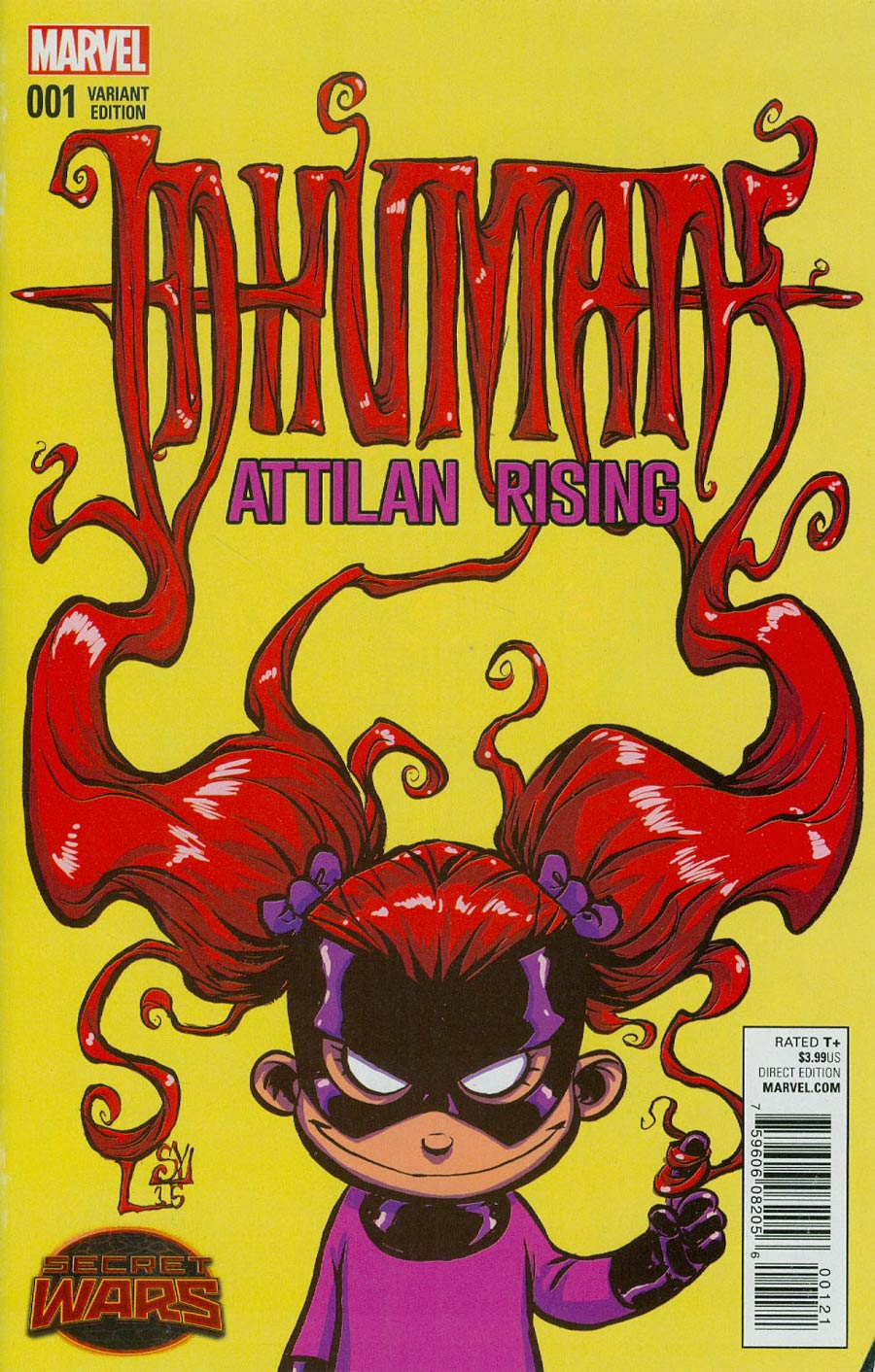 Inhumans Attilan Rising #1 Cover B Variant Skottie Young Baby Cover (Secret Wars Battleworld Tie-In)