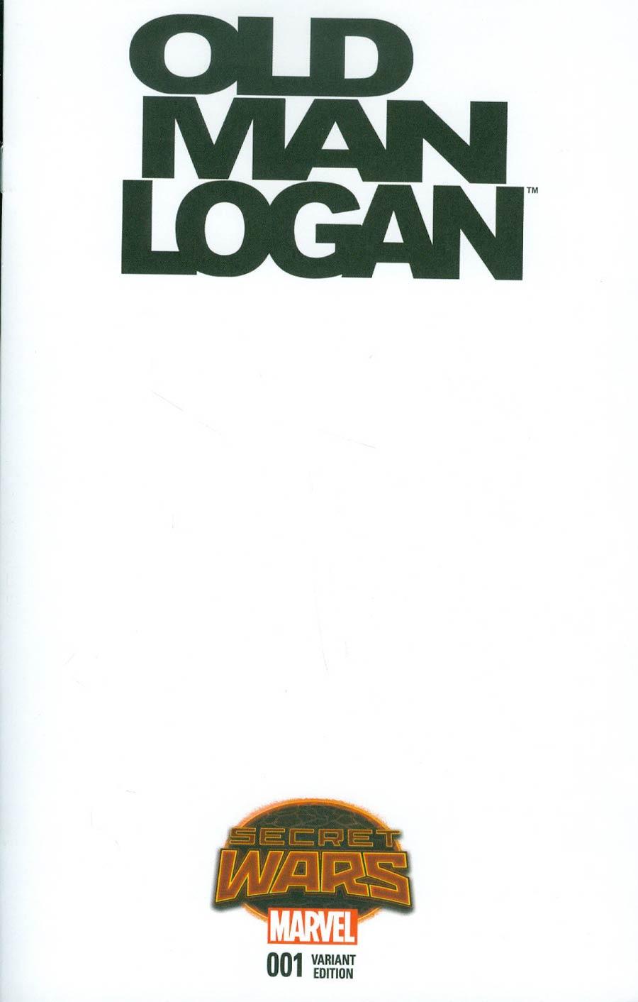 Old Man Logan #1 Cover C Variant Blank Cover (Secret Wars Warzones Tie-In)