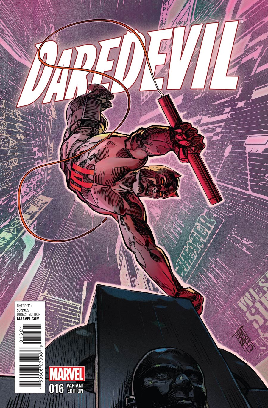 Daredevil Vol 4 #16 Cover B Variant NYC Cover