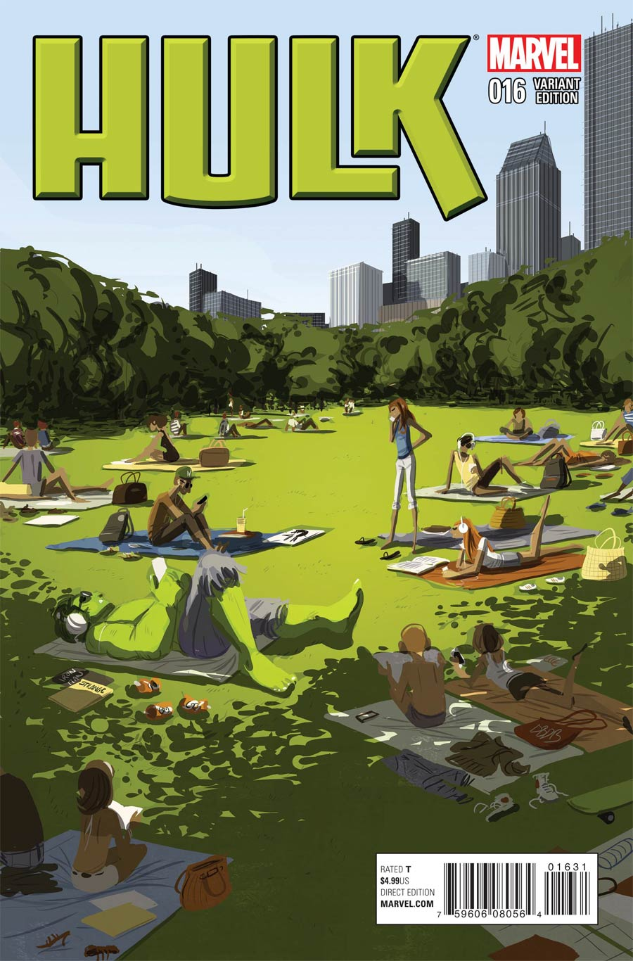 Hulk Vol 3 #16 Cover B Variant NYC Cover