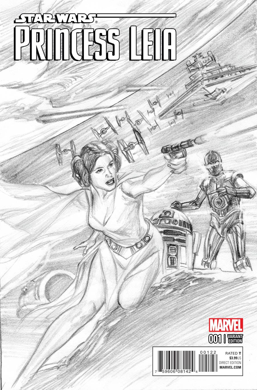 Princess Leia #1 Cover O Incentive Alex Ross Sketch Cover