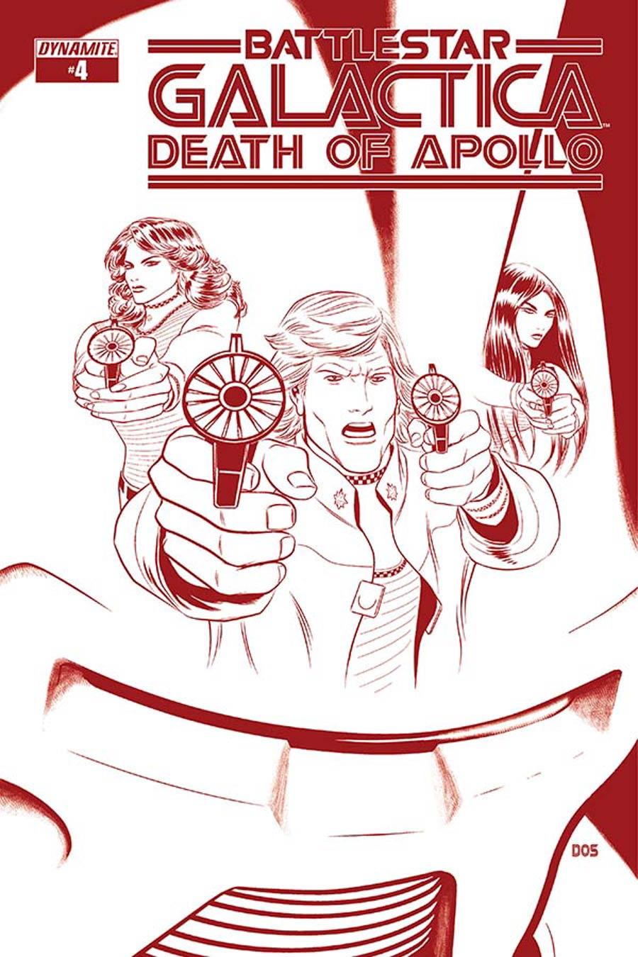 Battlestar Galactica Death Of Apollo #4 Cover G Incentive Dietrich Smith Cylon Red Cover