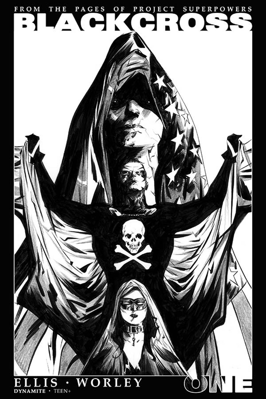 Project Superpowers Blackcross #1 Cover I Incentive Jae Lee Black & White Cover