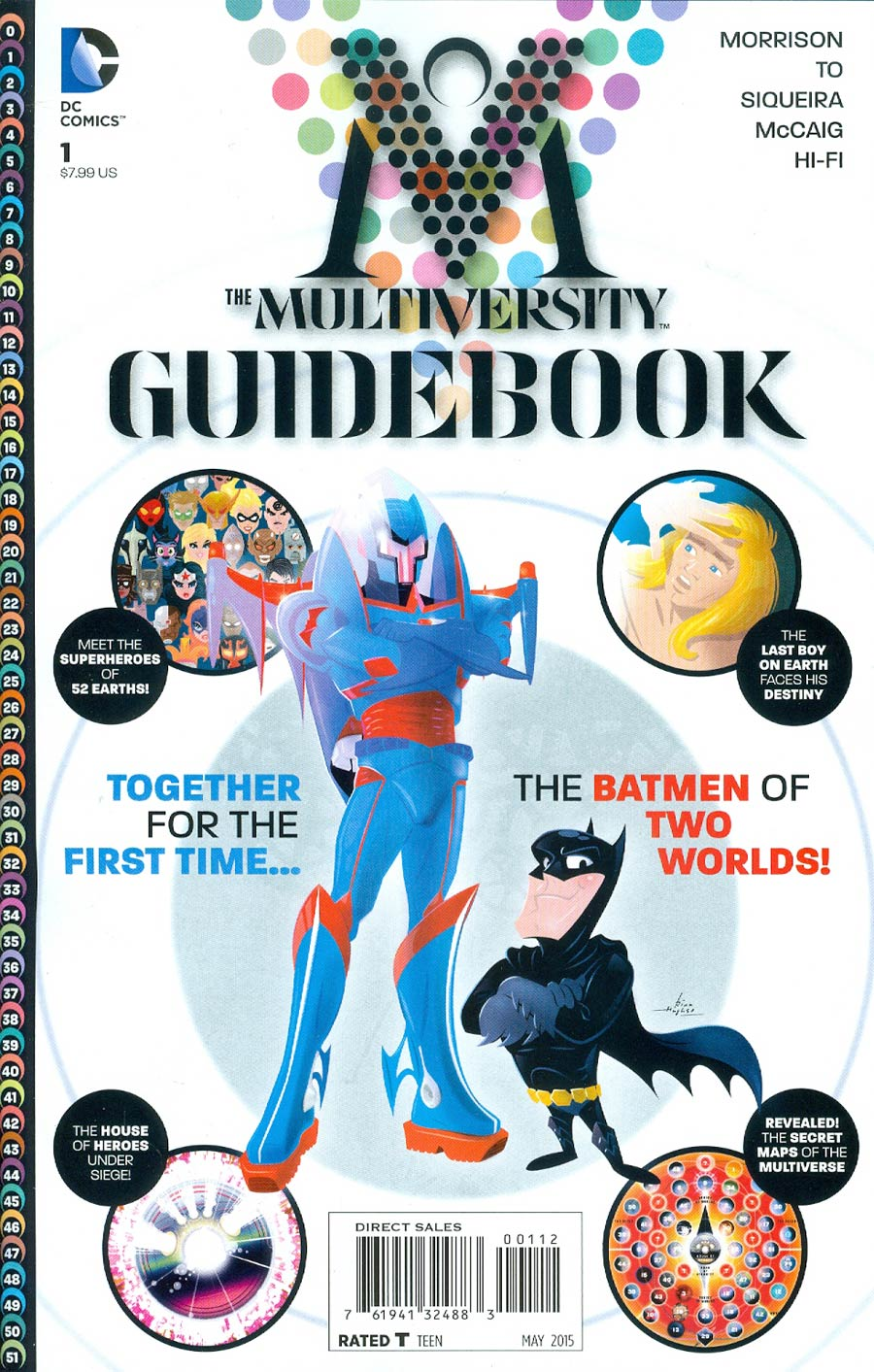 Multiversity Guidebook #1 Cover F 2nd Ptg Rian Hughes Variant Cover