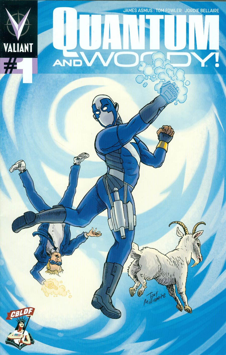 Quantum & Woody Vol 3 #1 Cover H CBLDF Exclusive Variant Cover