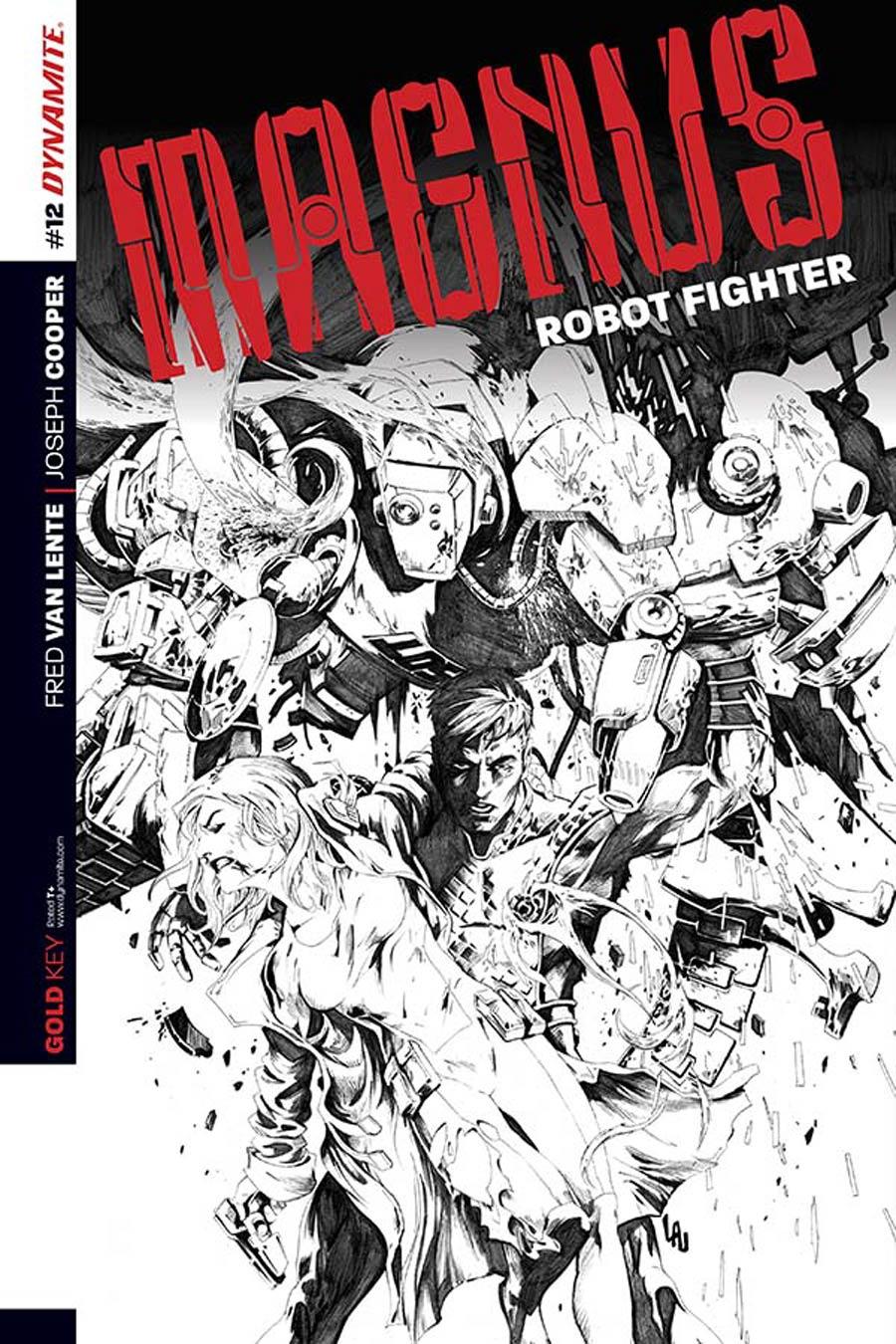 Magnus Robot Fighter Vol 4 #12 Cover C Incentive Jonathan Lau Black & White Cover