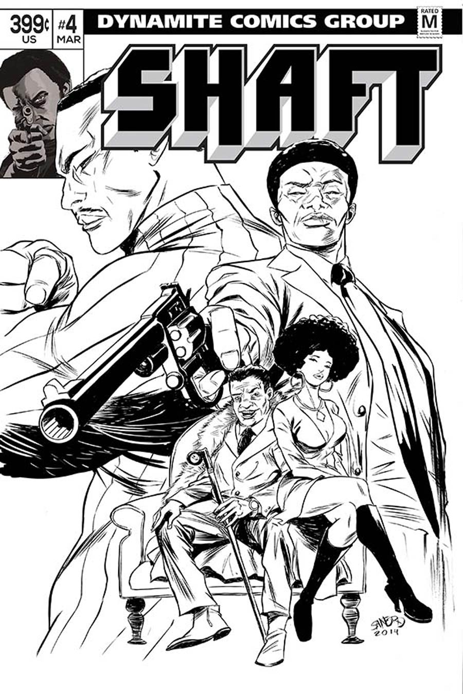 Shaft #4 Cover E Incentive Sanford Greene Black & White Cover