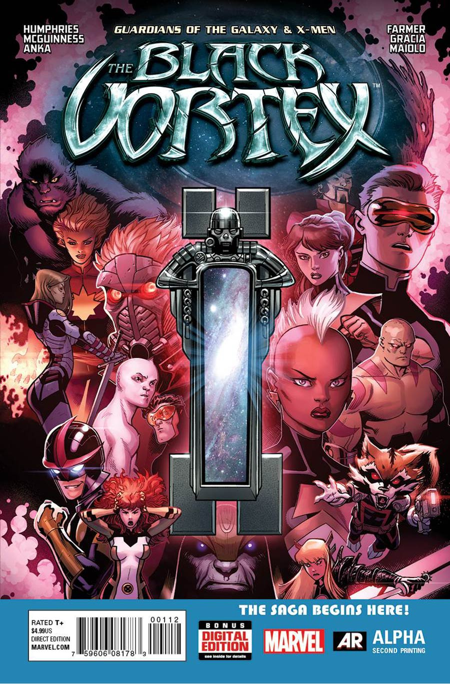Guardians Of The Galaxy & X-Men Black Vortex Alpha #1 Cover E 2nd Ptg Ed McGuinness Variant Cover