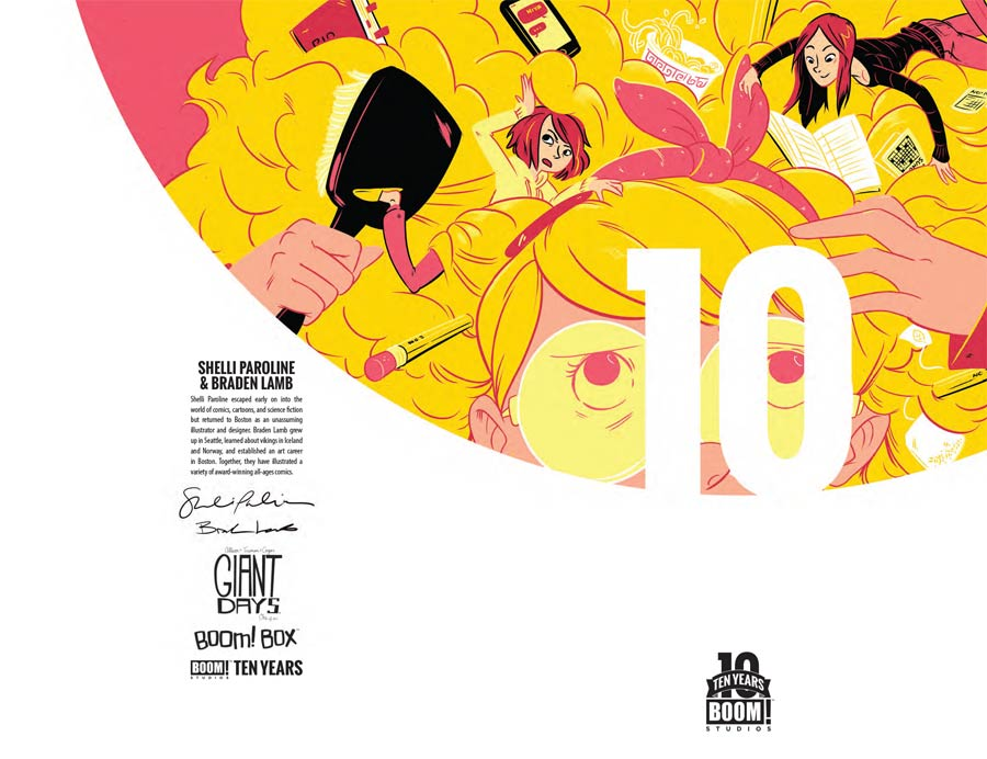 Giant Days #1 Cover B Incentive Shelli Paroline & Braden Lamb BOOM 10 Years Anniversary Virgin Variant Cover