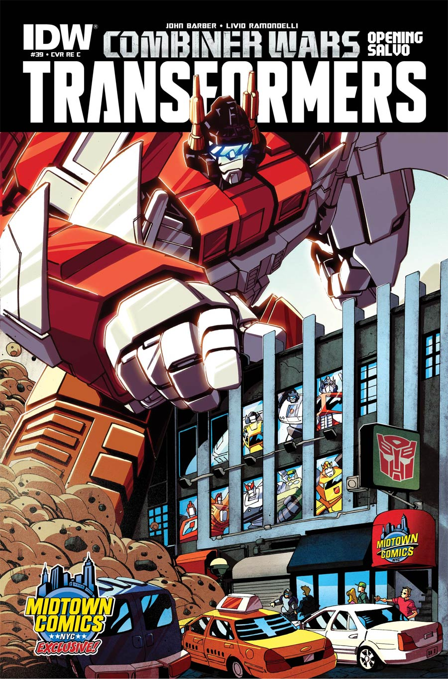 Transformers Vol 3 #39 Cover C Midtown Exclusive Variant Cover (Combiner Wars Opening Salvo)