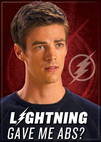 DC Comics 2.5x3.5-inch Magnet - Flash TV Lightning Gave Me Abs (71565DC)