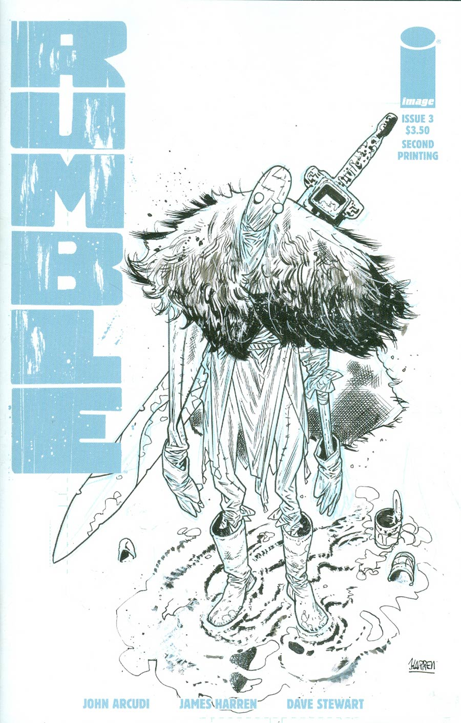 Rumble #3 Cover B 2nd Ptg James Harren Variant Cover