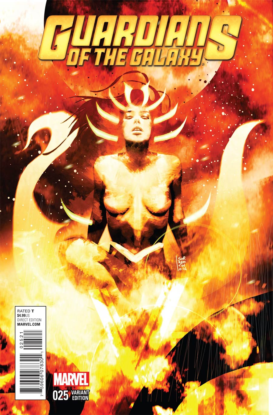 Guardians Of The Galaxy Vol 3 #25 Cover C Incentive Andrea Sorrentino Cosmically Enhanced Variant Cover (Black Vortex Part 7)