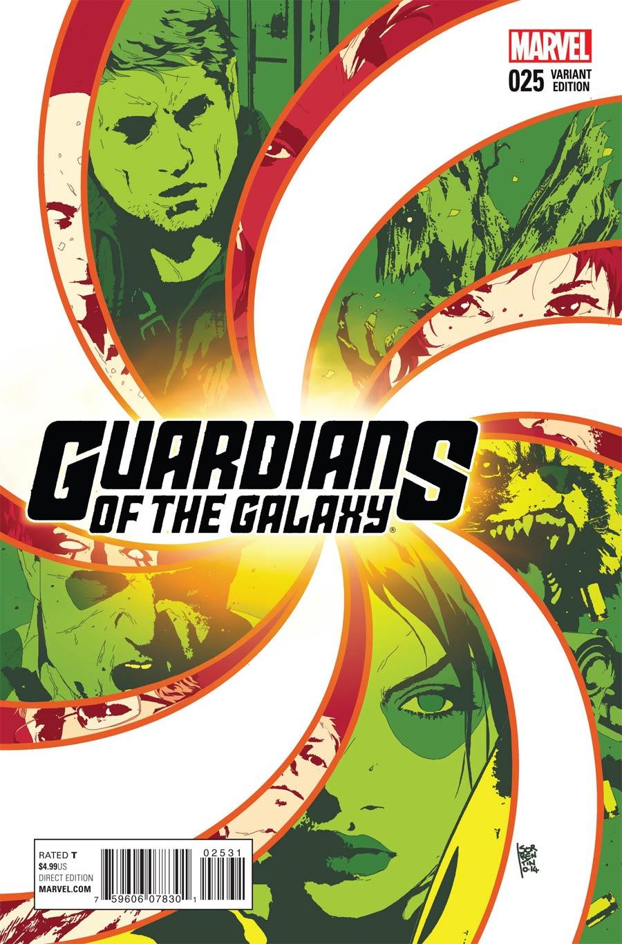 Guardians Of The Galaxy Vol 3 #25 Cover D Incentive Andrea Sorrentino Variant Cover (Black Vortex Part 7)