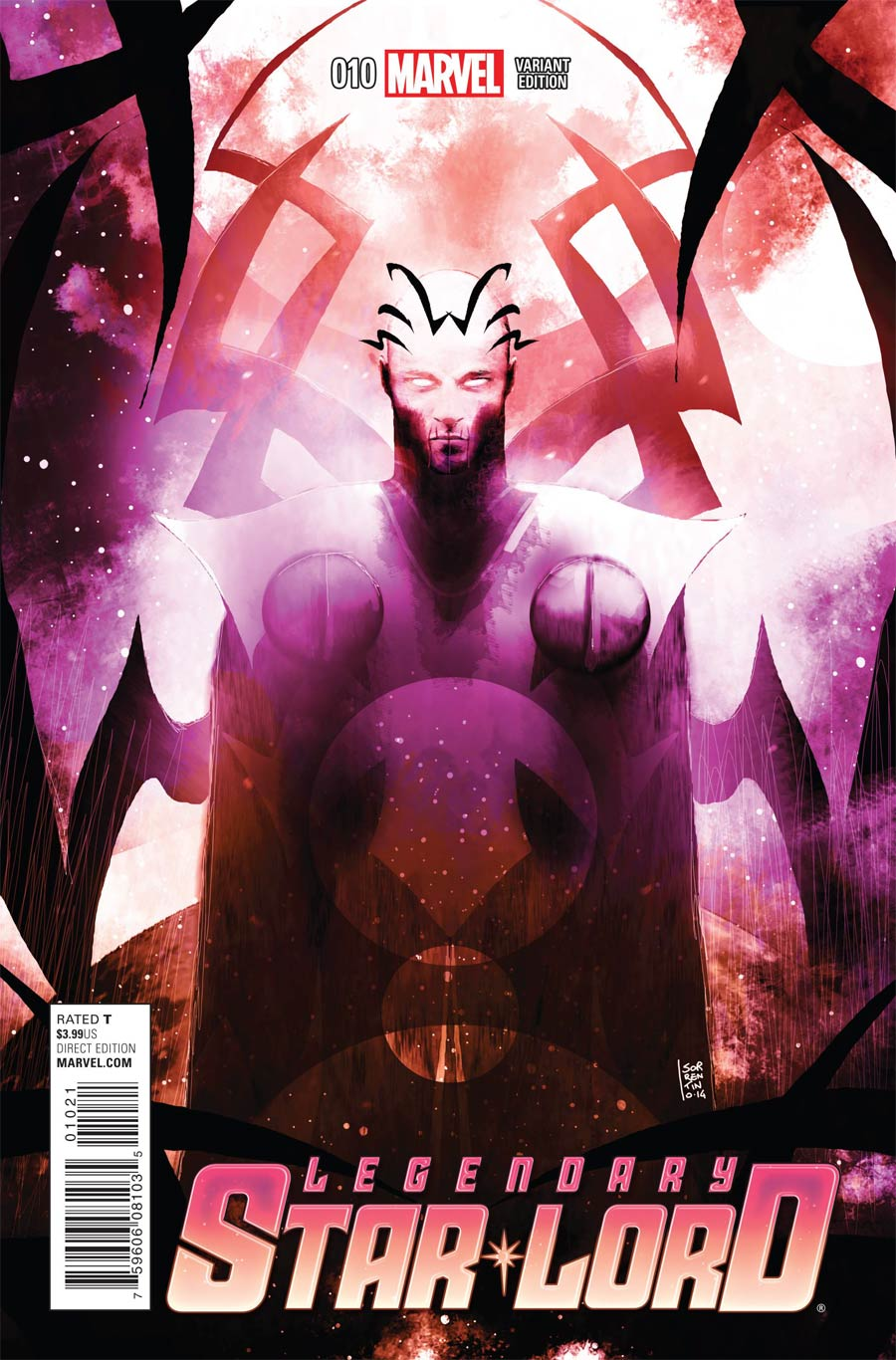Legendary Star-Lord #10 Cover C Incentive Andrea Sorrentino Cosmically Enhanced Variant Cover (Black Vortex Part 9)
