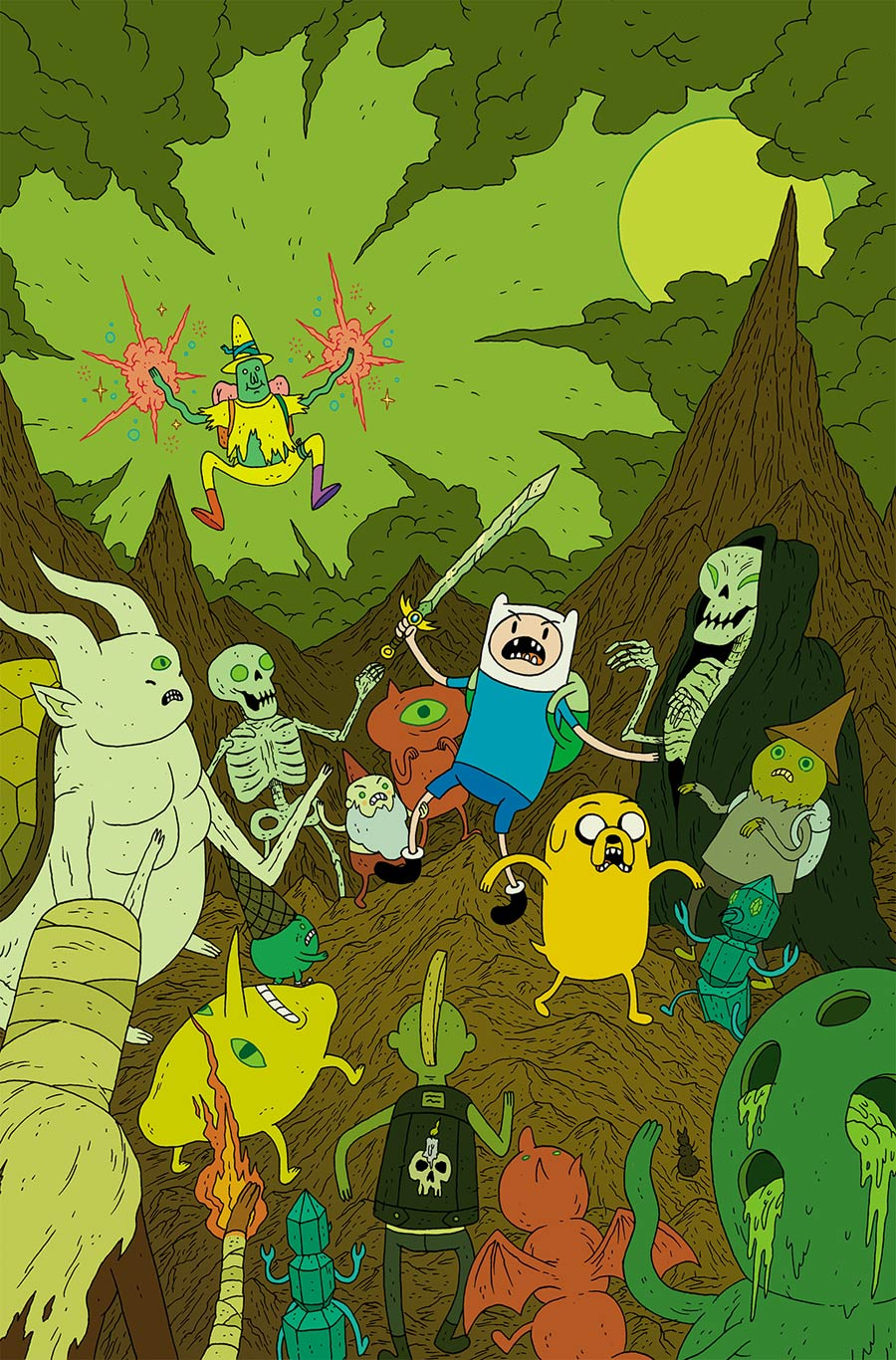 Adventure Time #38 Cover C Incentive Ze Burnay Virgin Variant Cover