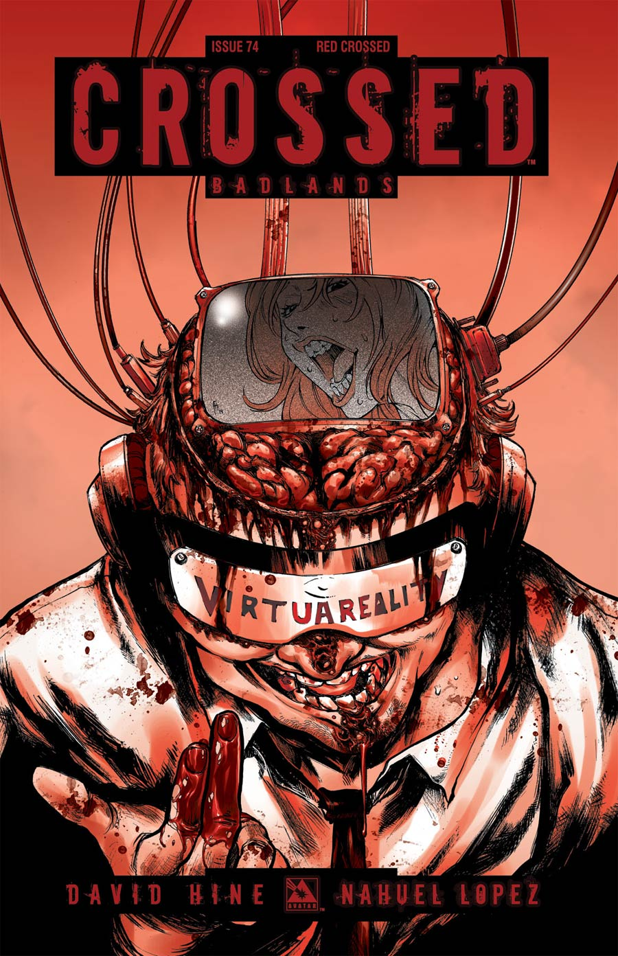 Crossed Badlands #74 Cover E Incentive Red Crossed Edition