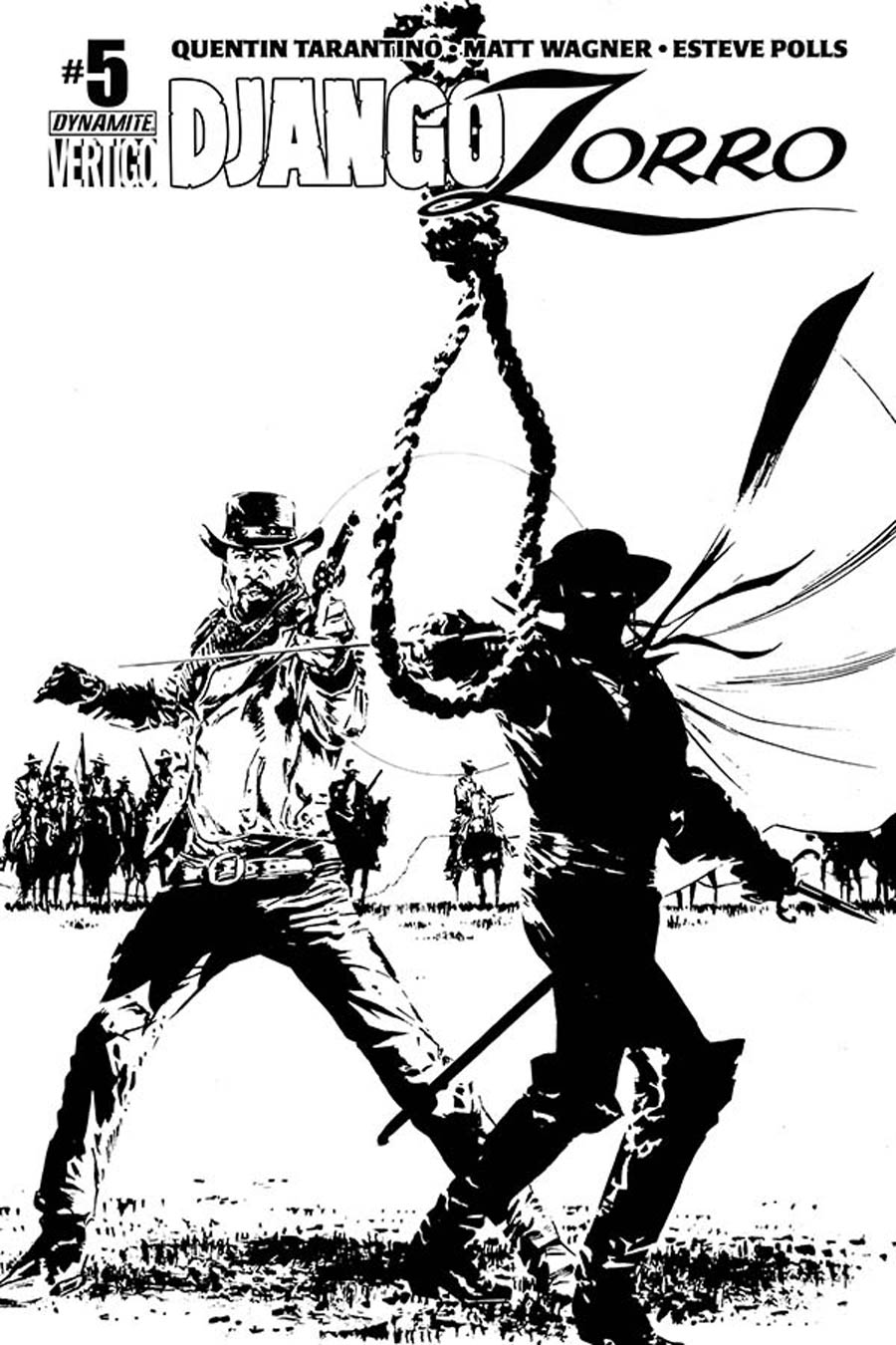 Django Zorro #5 Cover E Incentive Butch Guice Black & White Cover