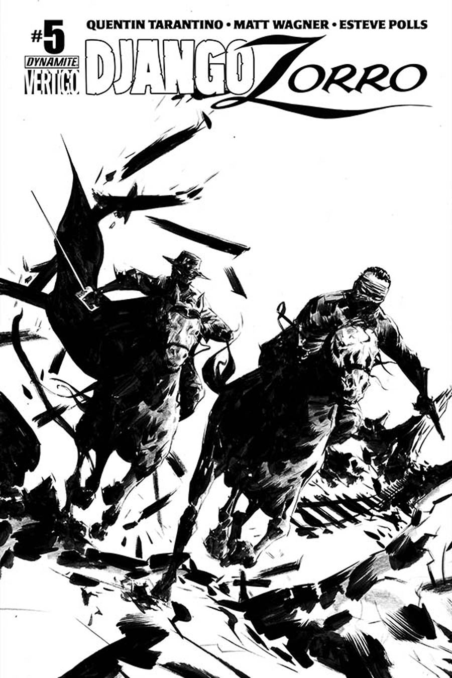 Django Zorro #5 Cover F Incentive Jae Lee Black & White Cover
