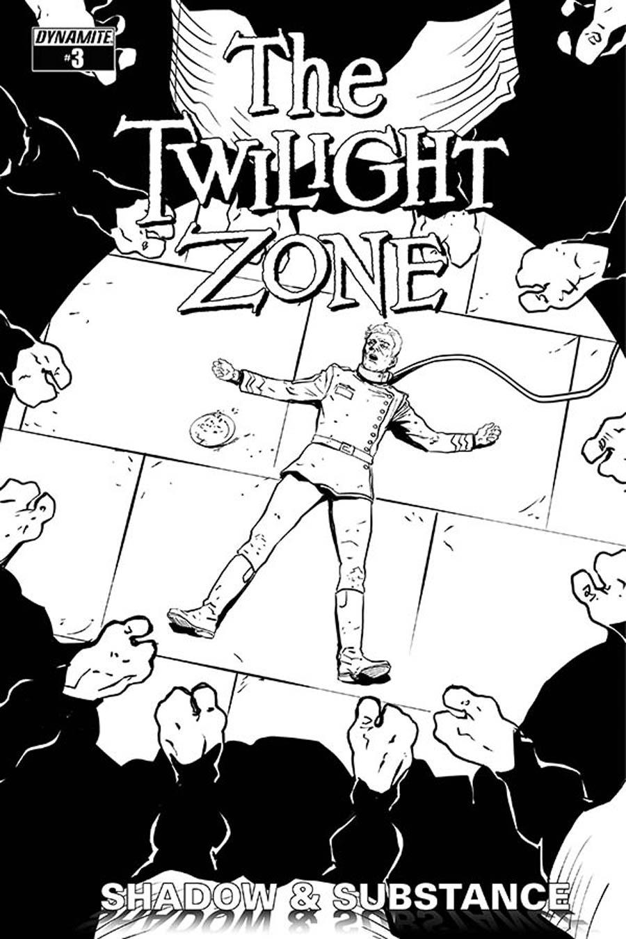 Twilight Zone Shadow & Substance #3 Cover D Incentive Guiu Vilanova Black & White Cover