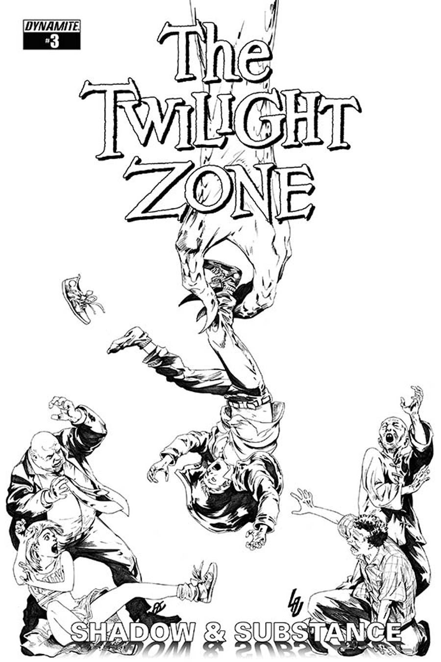 Twilight Zone Shadow & Substance #3 Cover E Incentive Jonathan Lau Black & White Cover