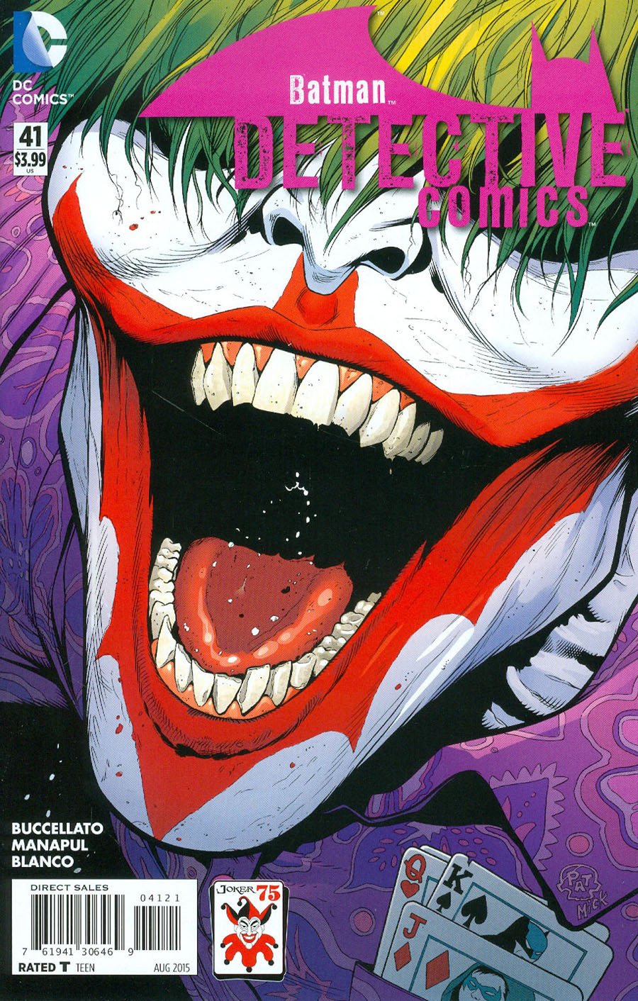 Detective Comics Vol 2 #41 Cover B Variant Patrick Gleason The Joker 75th Anniversary Cover