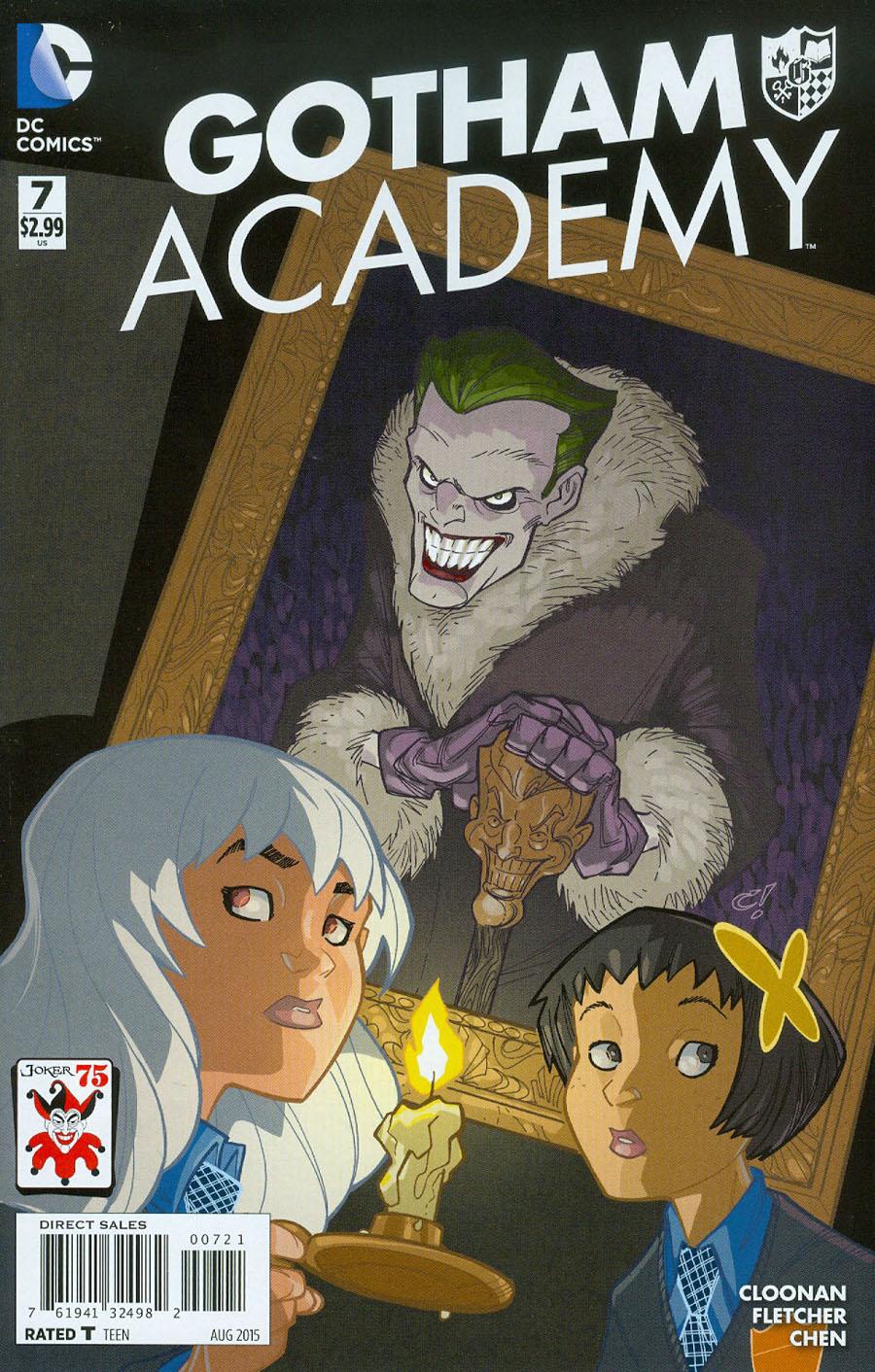 Gotham Academy #7 Cover B Variant Craig Rousseau The Joker 75th Anniversary Cover