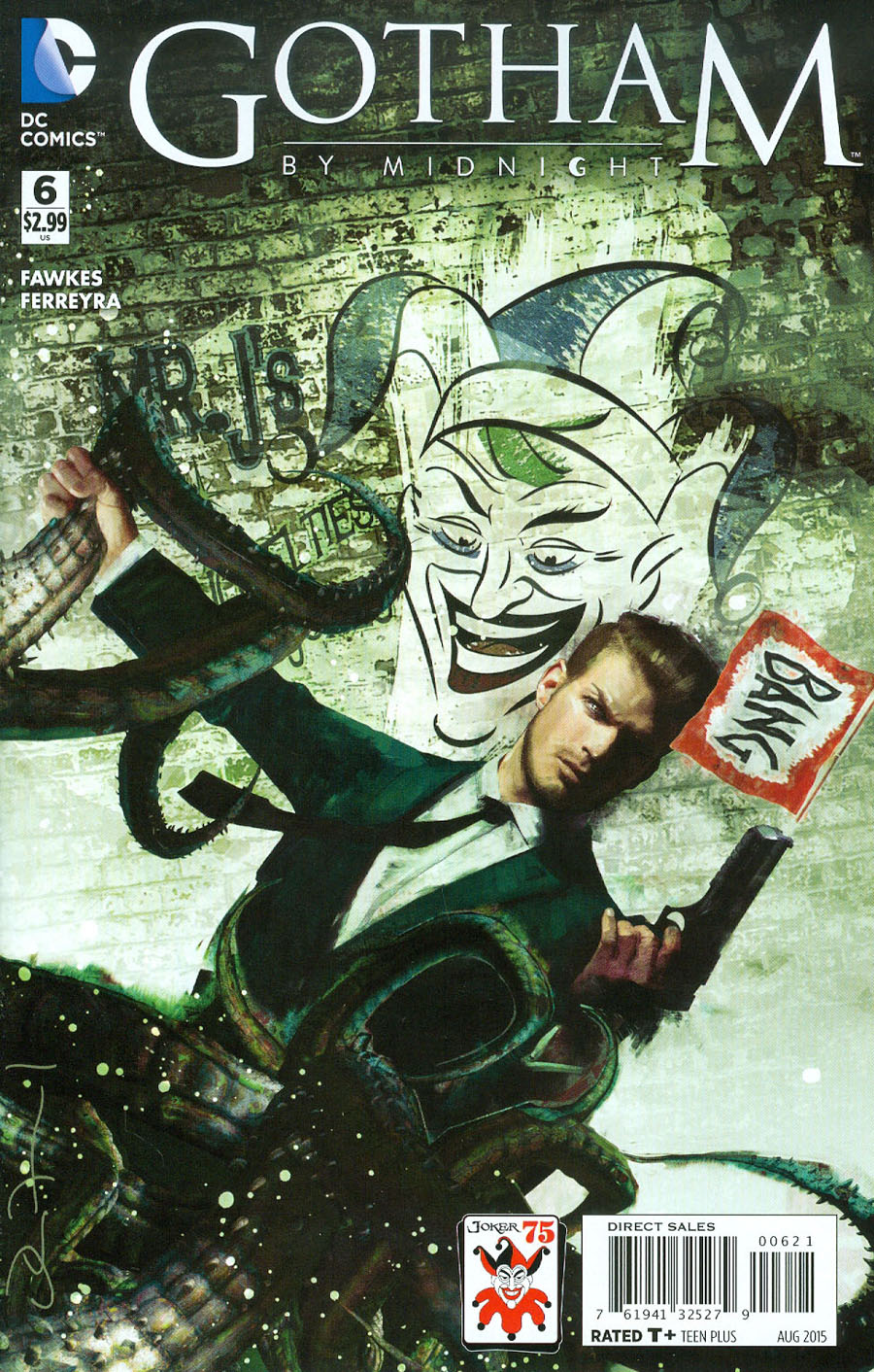 Gotham By Midnight #6 Cover B Variant John Van Fleet The Joker 75th Anniversary Cover
