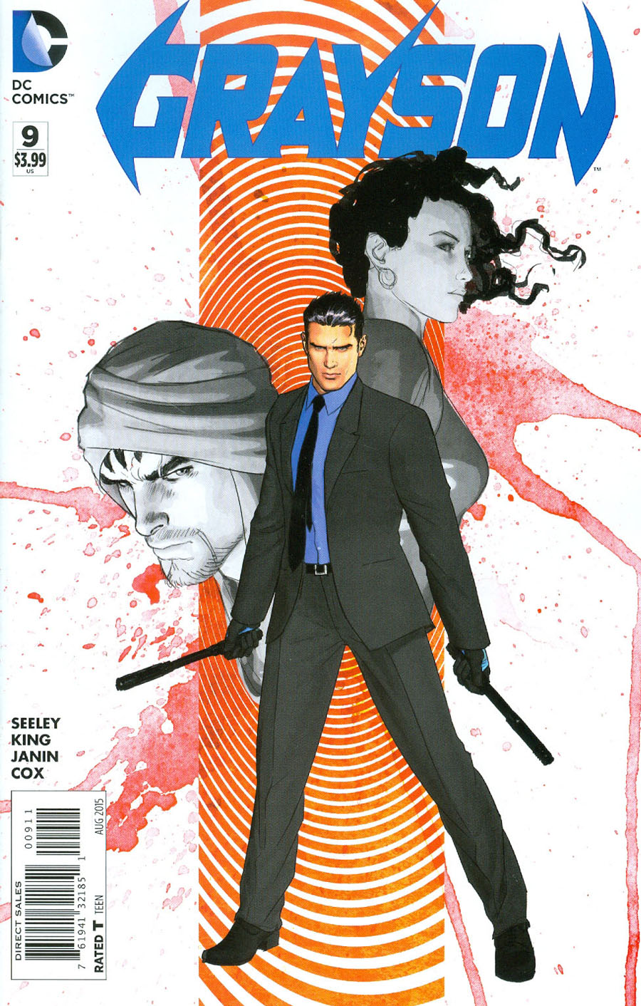 Grayson #9 Cover A Regular Mikel Janin Cover