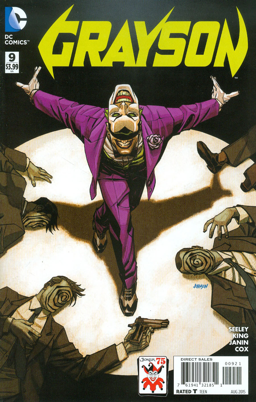 Grayson #9 Cover B Variant Dave Johnson The Joker 75th Anniversary Cover