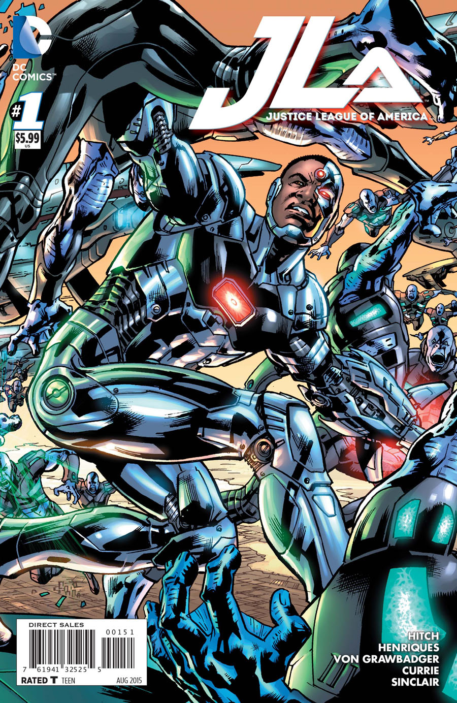 Justice League Of America Vol 4 #1 Cover E Variant Cyborg Cover