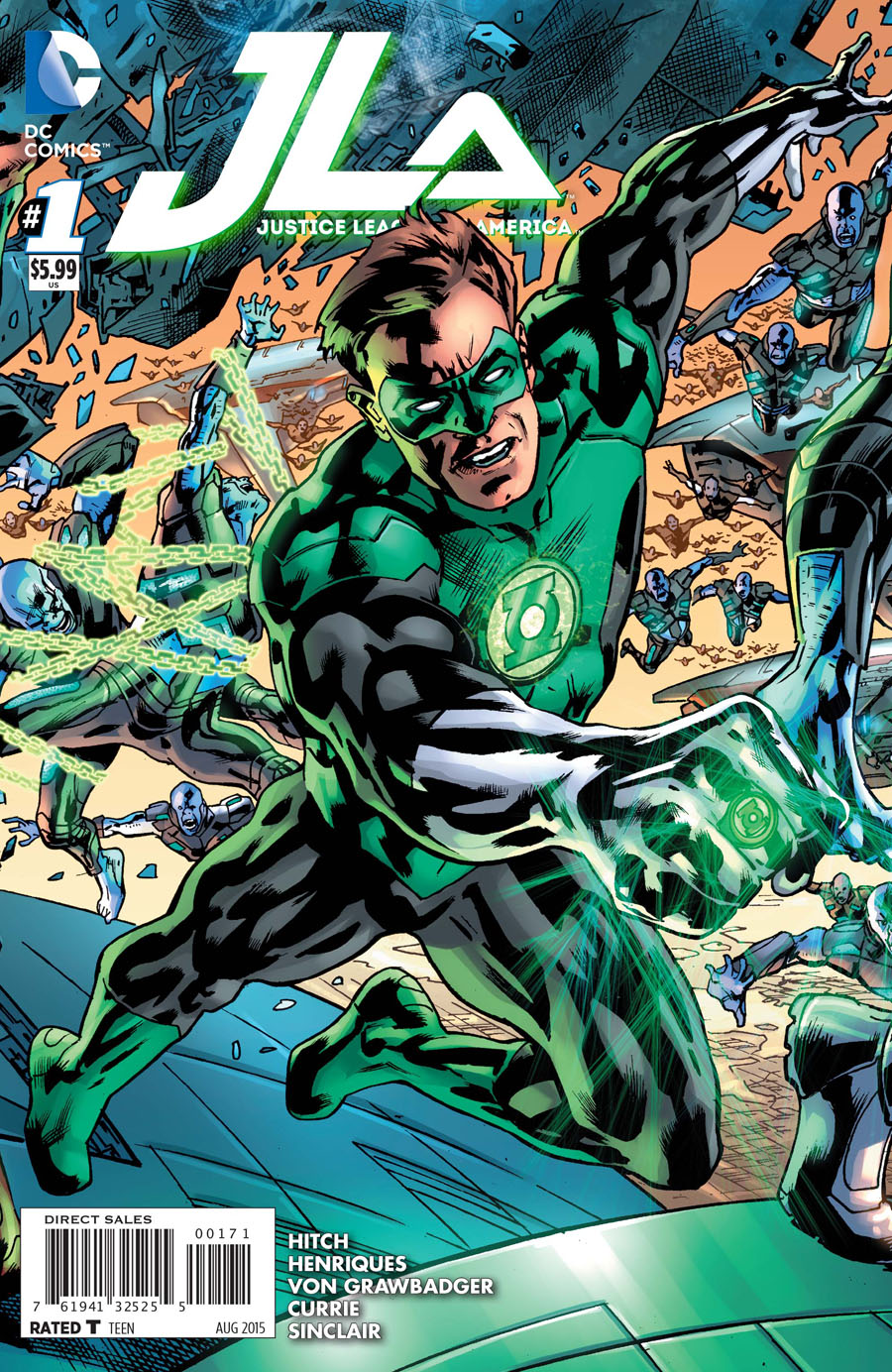 Justice League Of America Vol 4 #1 Cover G Variant Green Lantern Cover
